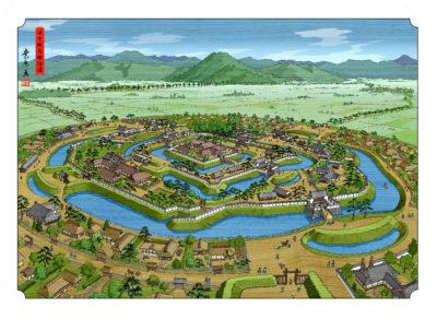 田中城鳥瞰絵図