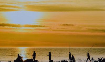 夕日の太公望