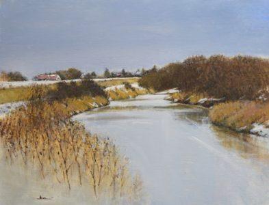 初冬の漁川